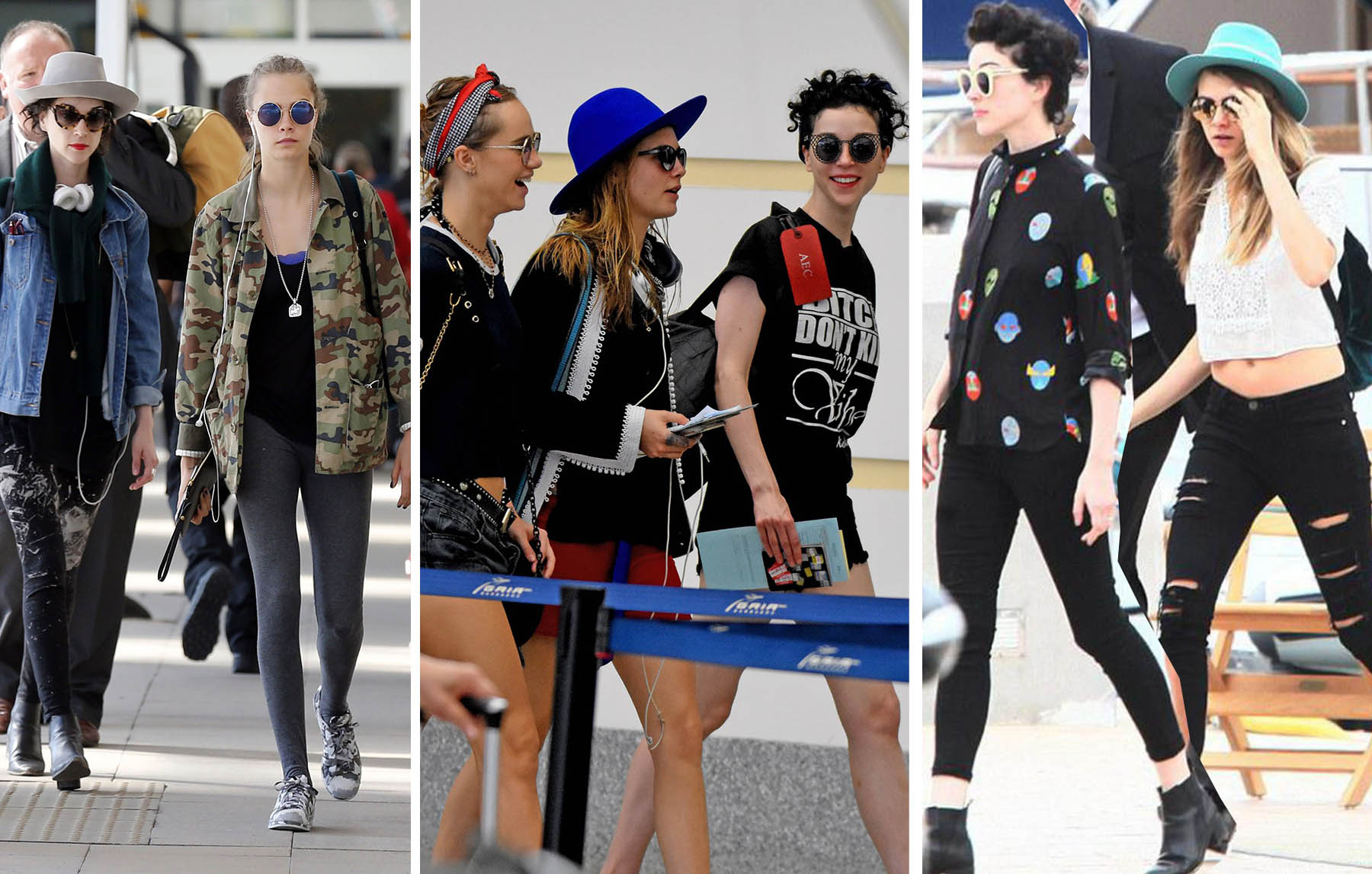 Cara Delevingne and St Vincent style