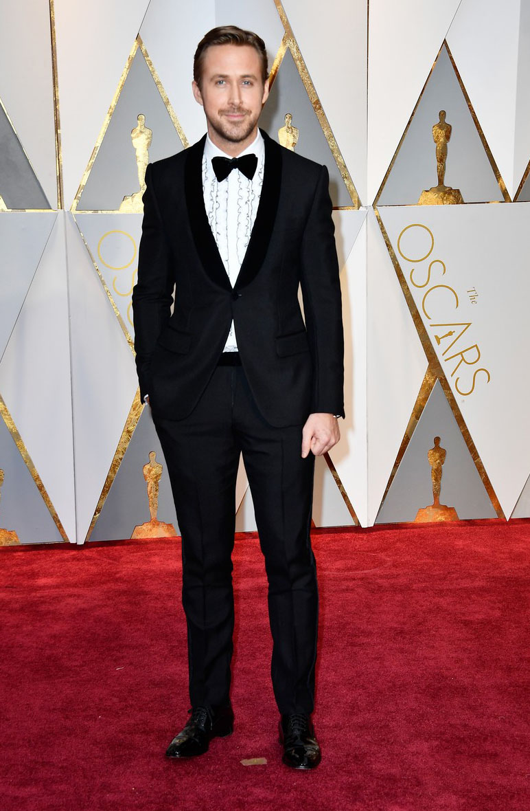 ryan Gosling at the Oscars 2017 red carpte